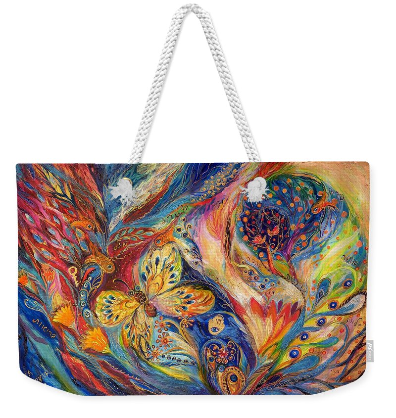 Original Weekender Tote Bag featuring the painting The Chagall Dreams by Elena Kotliarker