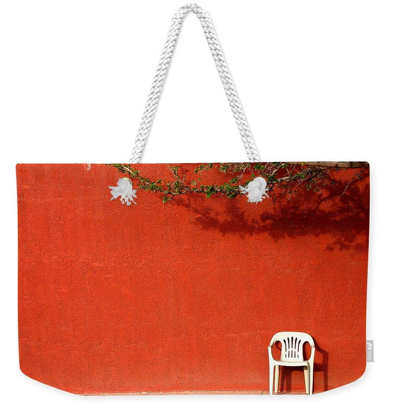 Chair Weekender Tote Bag featuring the photograph The Chair by Joe Kozlowski