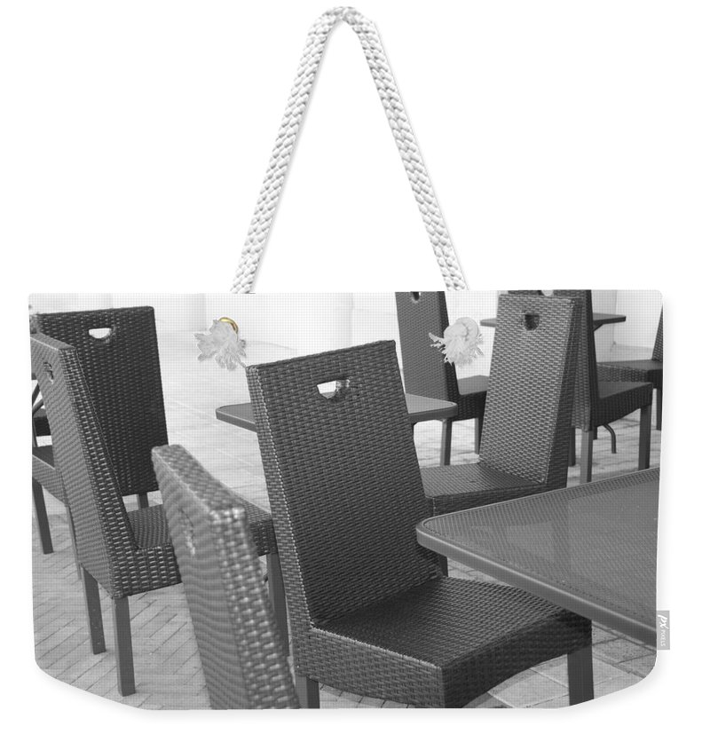 Pop Art Weekender Tote Bag featuring the photograph The Chairs by Rob Hans