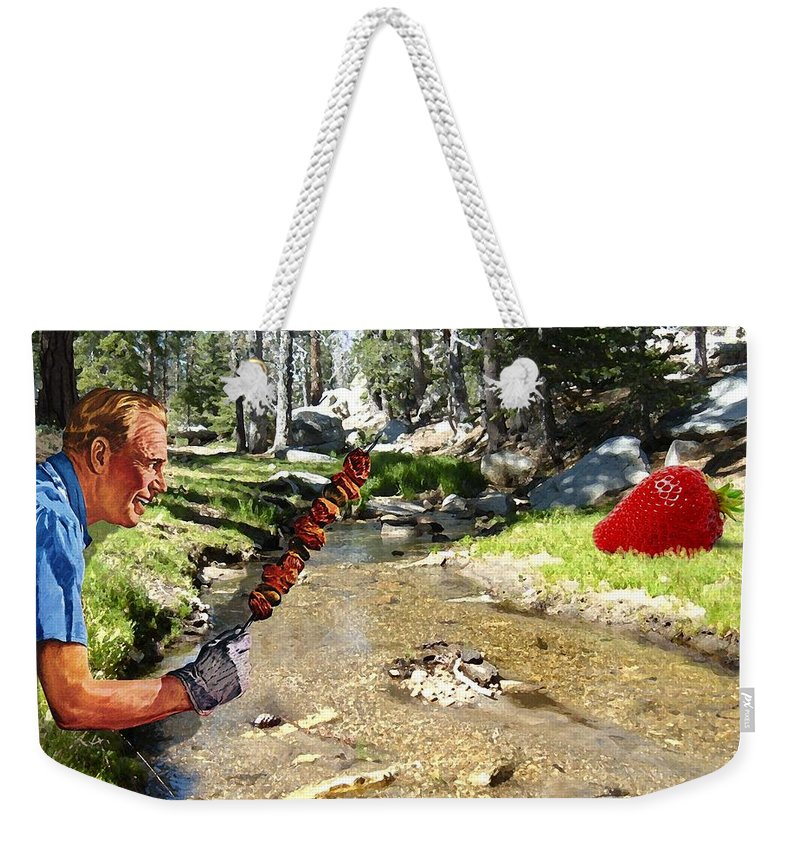 Digital Art Weekender Tote Bag featuring the photograph The Challenge by Snake Jagger