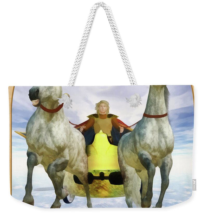 Magic Weekender Tote Bag featuring the digital art The Chariot by John Edwards