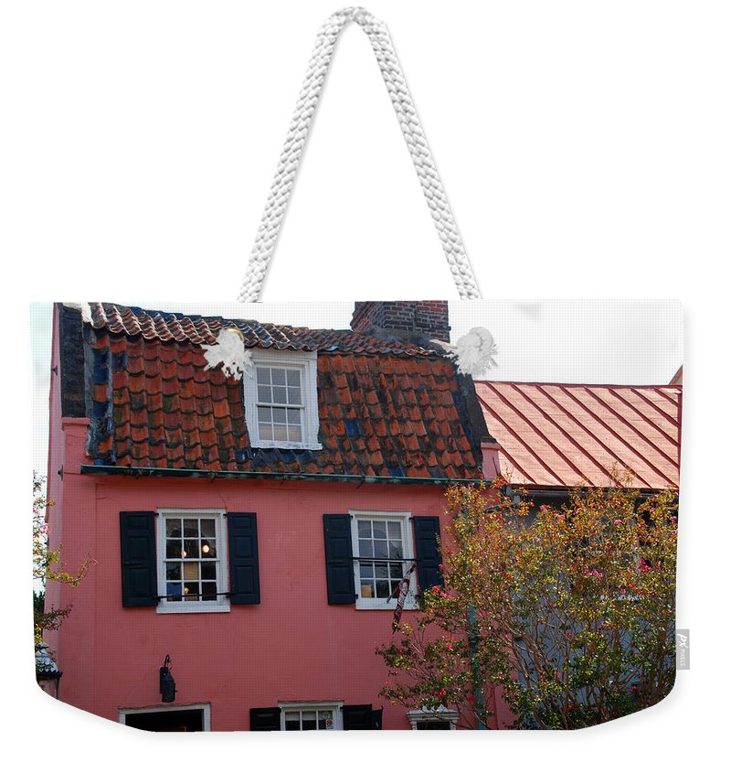 House Weekender Tote Bag featuring the photograph The Charm Of Charleston Sc by Susanne Van Hulst
