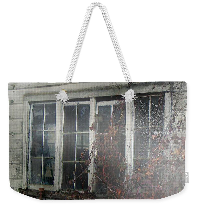 Boy Weekender Tote Bag featuring the painting The Child At The Window by RC DeWinter