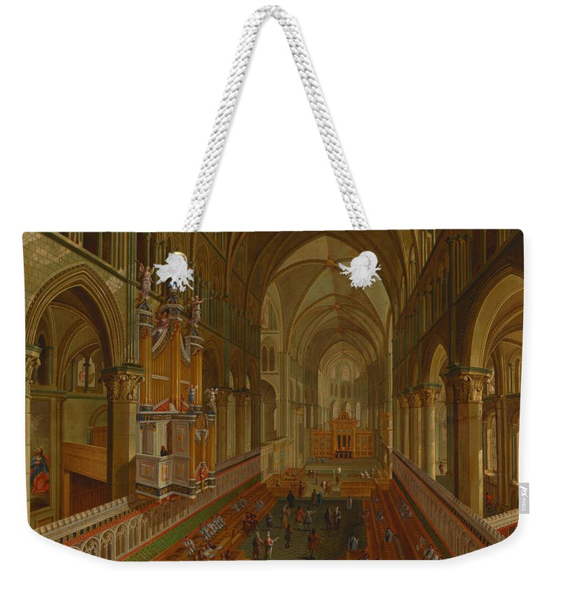 Painting Weekender Tote Bag featuring the painting The Choir - Canterbury Cathedral by Mountain Dreams