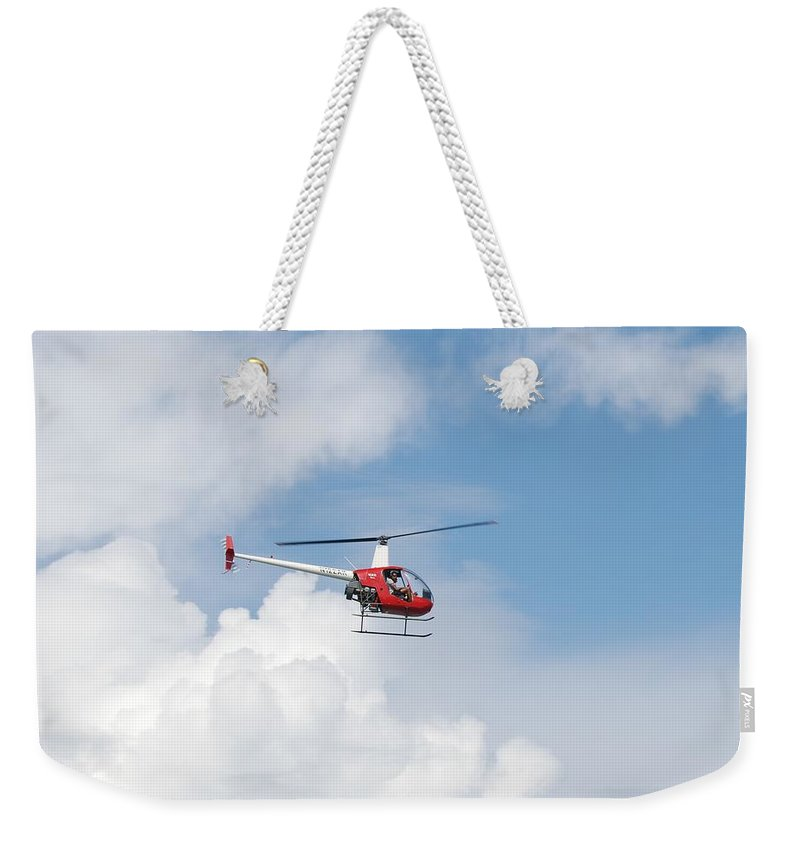 Helocopter Weekender Tote Bag featuring the photograph The Chopper by Rob Hans