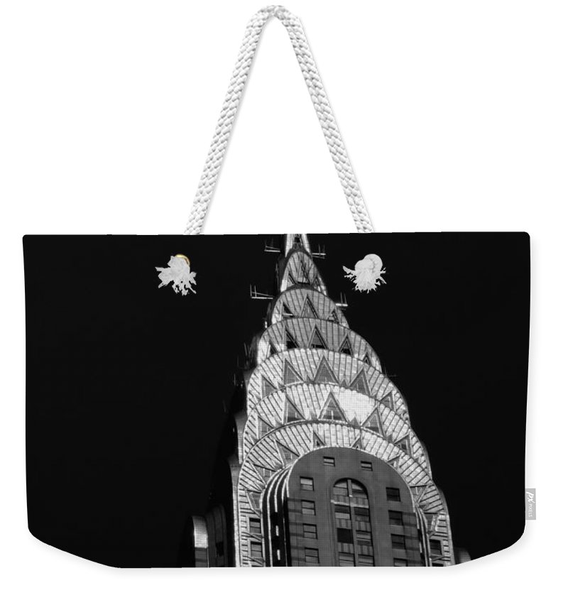 Chrysler Building Weekender Tote Bag featuring the photograph The Chrysler Building by Vivienne Gucwa