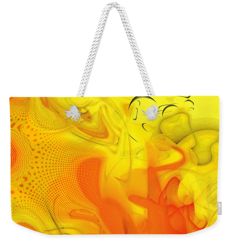 Digital Abstract Art Weekender Tote Bag featuring the digital art The Circus Came To Town by Linda Sannuti