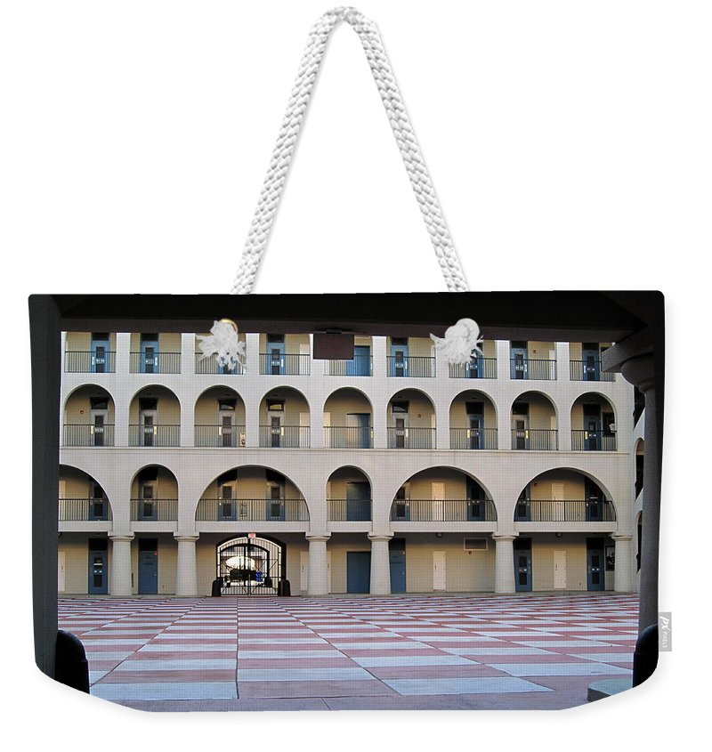 Photography Weekender Tote Bag featuring the photograph The Citadel In Charleston Iv by Susanne Van Hulst