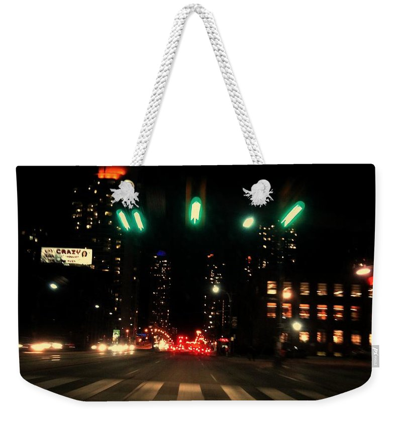 Cars Weekender Tote Bag featuring the photograph The City In A Rush by Aurora Bautista