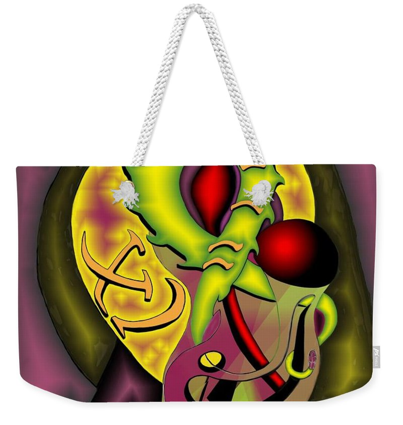 'the Clock Ii' Weekender Tote Bag featuring the digital art The Clock II by Helmut Rottler