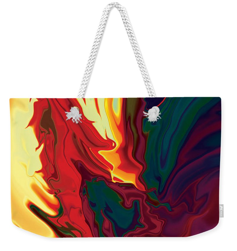 Animals Weekender Tote Bag featuring the digital art The Cock 2 by Rabi Khan