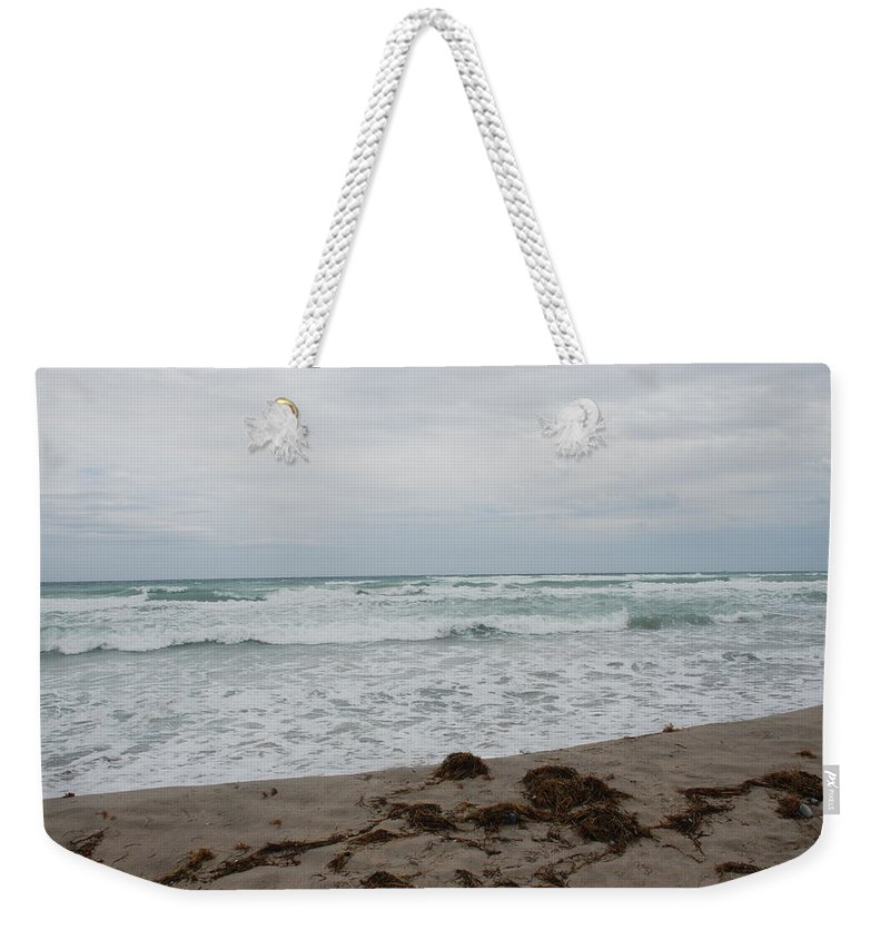 Water Weekender Tote Bag featuring the photograph The Cold Sea by Rob Hans