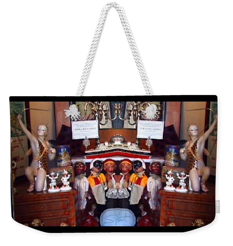 Toys Weekender Tote Bag featuring the photograph The Collection Strikes Back by Charles Stuart