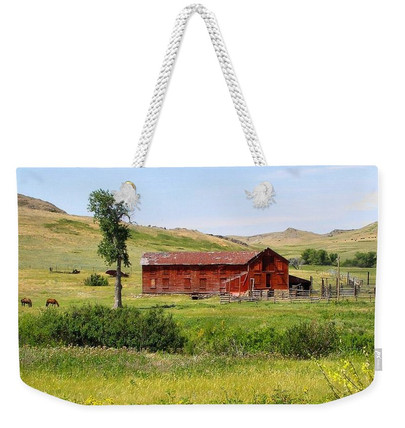 Montana Weekender Tote Bag featuring the photograph The Color Of Montana by Susan Kinney