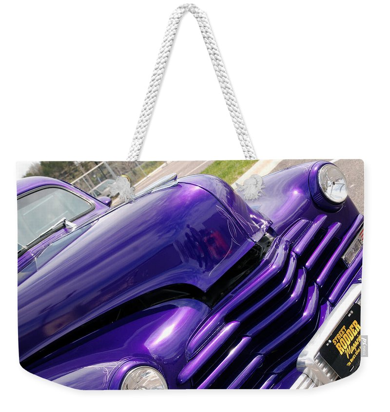 Cars Weekender Tote Bag featuring the photograph The Color Purple by Susanne Van Hulst