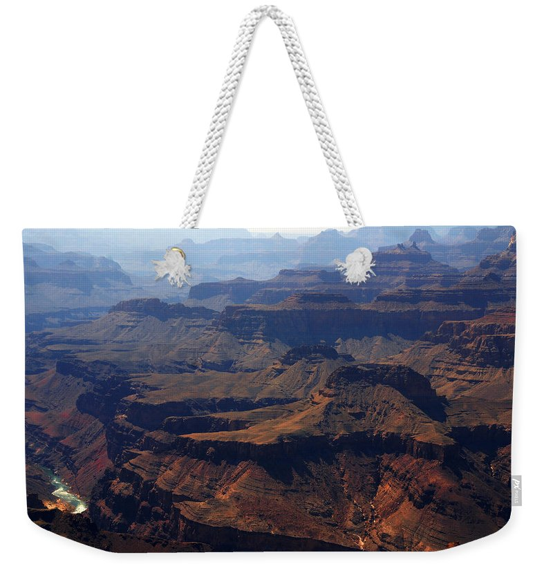 Colorado River Weekender Tote Bag featuring the photograph The Colorado River by Susanne Van Hulst