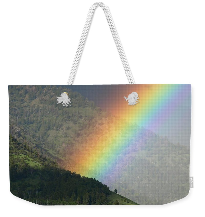 Rainbow Weekender Tote Bag featuring the photograph The Colors Of The Rainbow by DeeLon Merritt