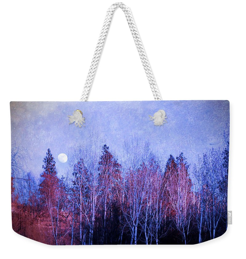 Moon Weekender Tote Bag featuring the photograph The Colours Of The Moon by Tara Turner