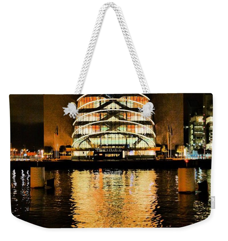 Candles Weekender Tote Bag featuring the photograph The Convention Centre by James Fitzpatrick