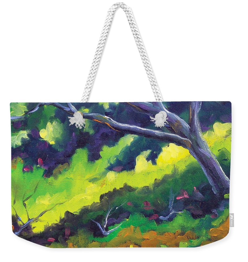 Art Weekender Tote Bag featuring the painting The Cool Shade by Richard T Pranke