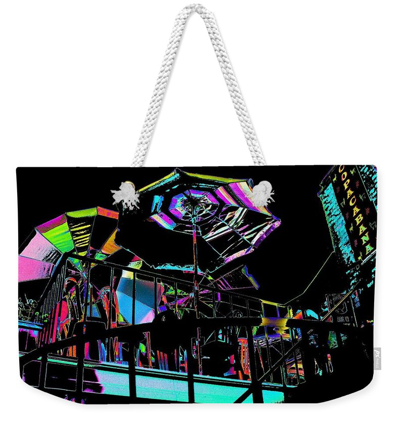 Seattle Weekender Tote Bag featuring the digital art The Copacabana by Tim Allen