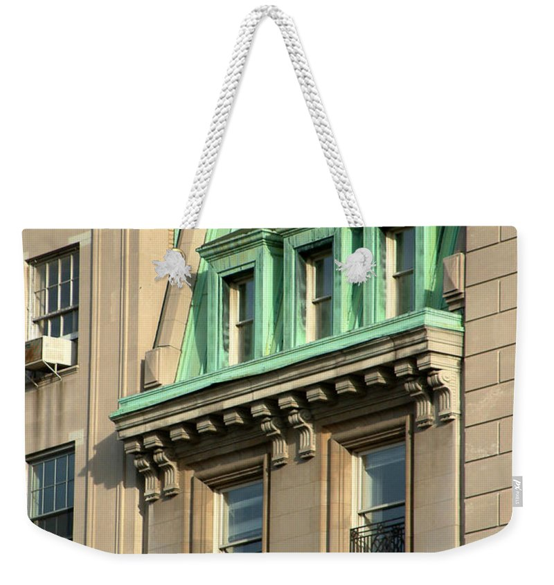 Apartments Weekender Tote Bag featuring the photograph The Copper Attic by RC DeWinter