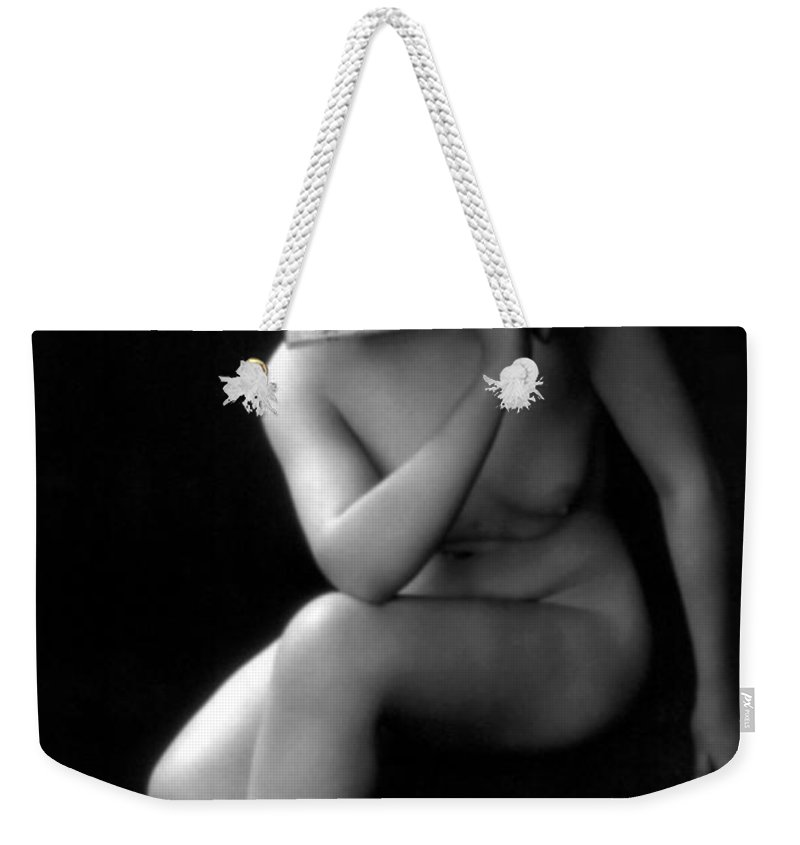 Erotica Weekender Tote Bag featuring the photograph The Coquette, Nude Model, 1900s by Science Source