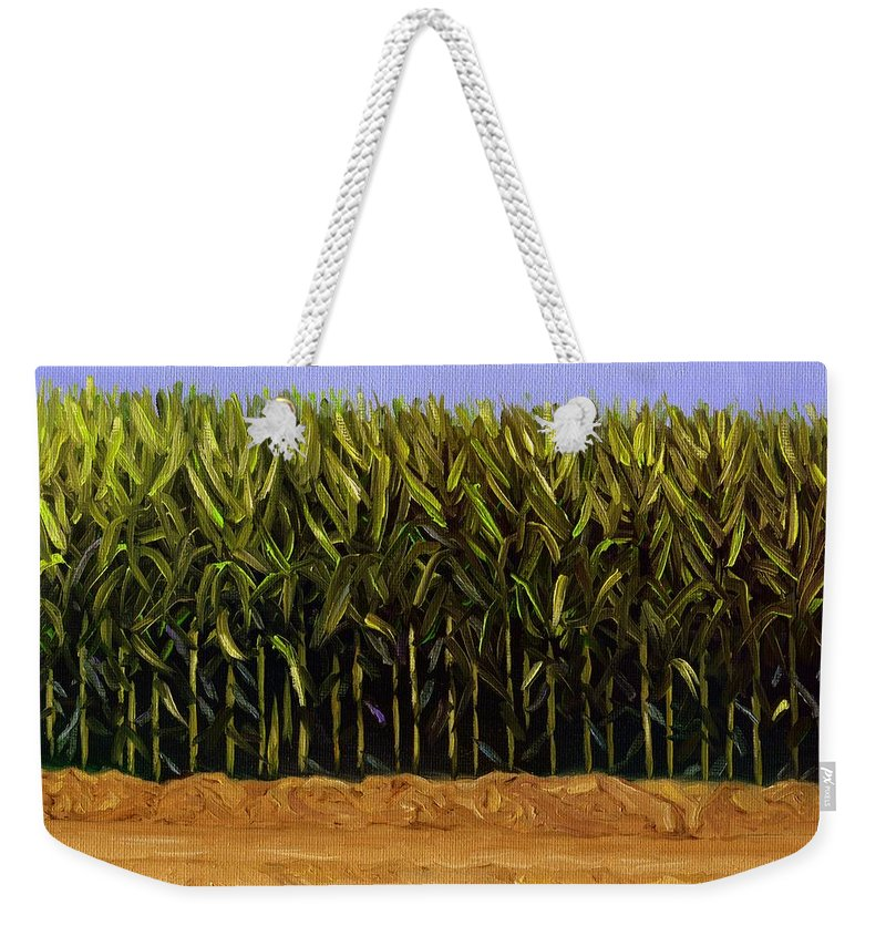 Cornfield Weekender Tote Bag featuring the painting The Cornfield by Karyn Robinson