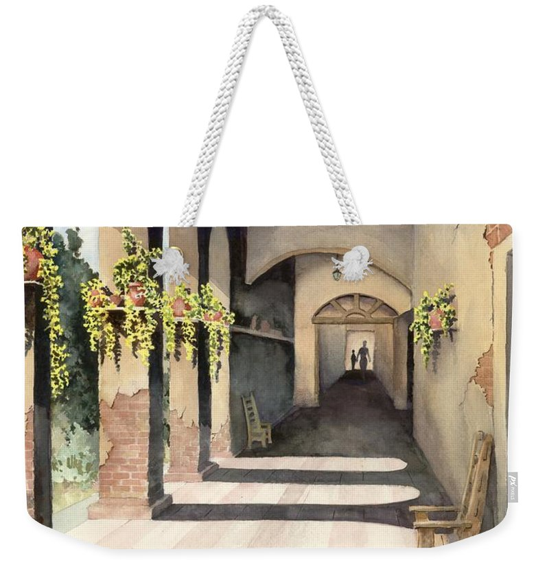 Plants Weekender Tote Bag featuring the painting The Corridor 2 by Sam Sidders