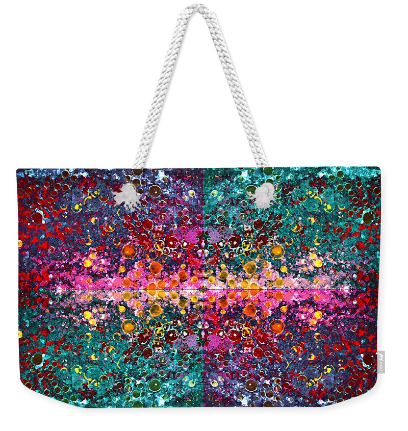 Abstract Weekender Tote Bag featuring the photograph The Cosmos Crown Jewels 1 by Angelina Vick