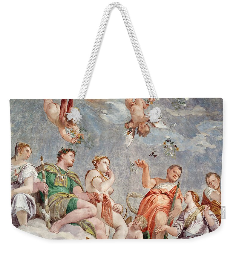 Veronese Weekender Tote Bag featuring the painting The Court Of Love by Veronese