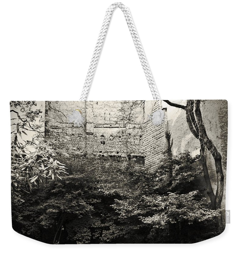 Tree Weekender Tote Bag featuring the photograph The Courtyard by Dorit Fuhg
