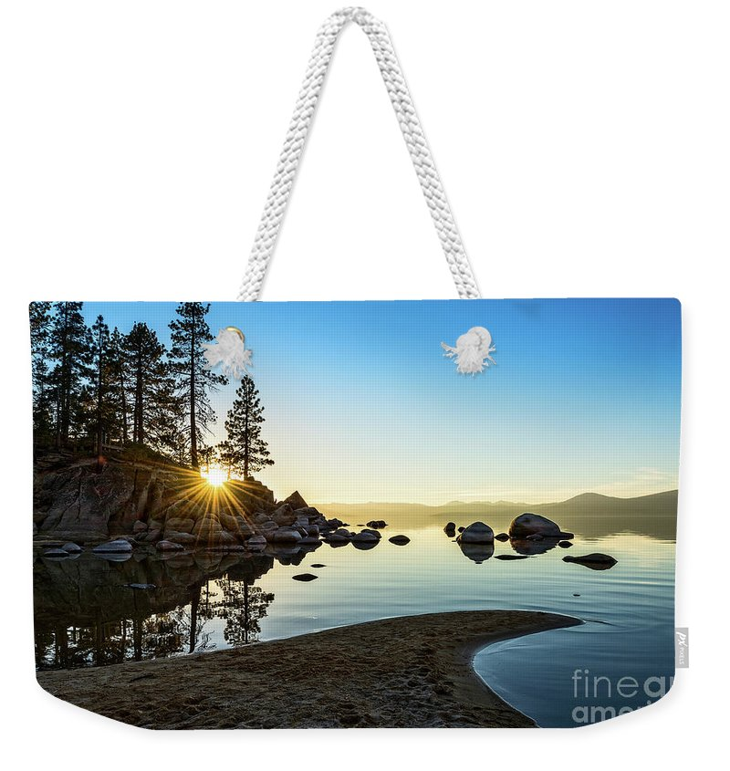 Sand Harbor Weekender Tote Bag featuring the photograph The Cove At Sand Harbor by Jamie Pham