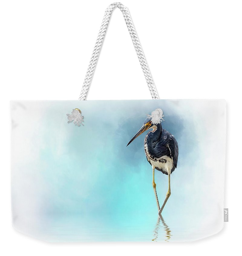 Heron Weekender Tote Bag featuring the digital art The Cowboy by Cyndy Doty
