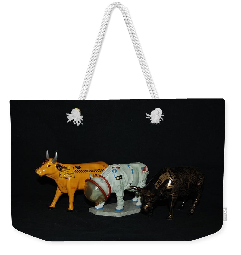 Cows Weekender Tote Bag featuring the photograph The Cows by Rob Hans