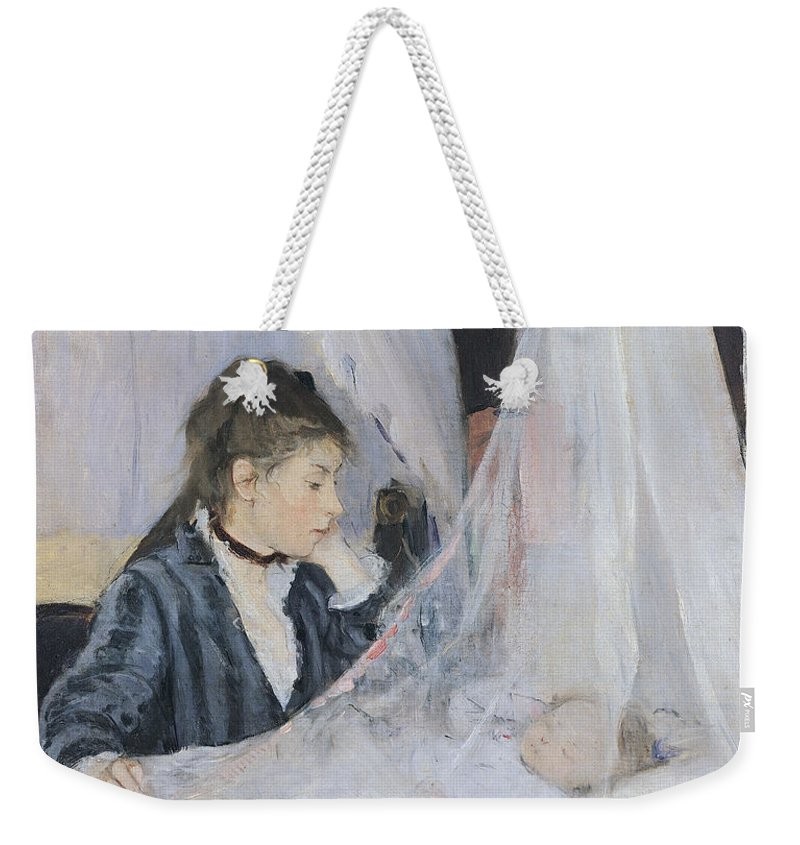 Mother Weekender Tote Bag featuring the painting The Cradle by Berthe Morisot