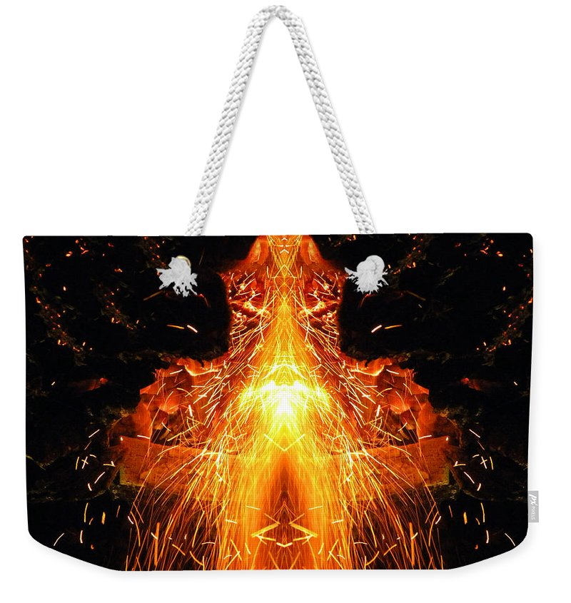 Photo Weekender Tote Bag featuring the photograph The Creation by Munir Alawi