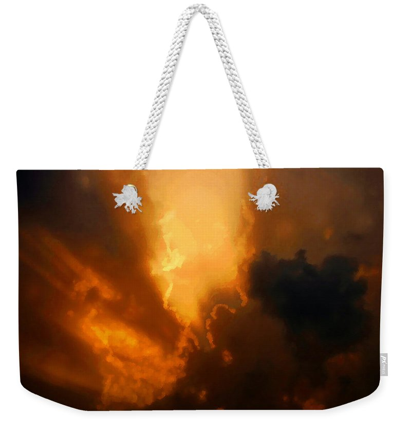 Art Weekender Tote Bag featuring the painting The Creation Of Light by David Lee Thompson