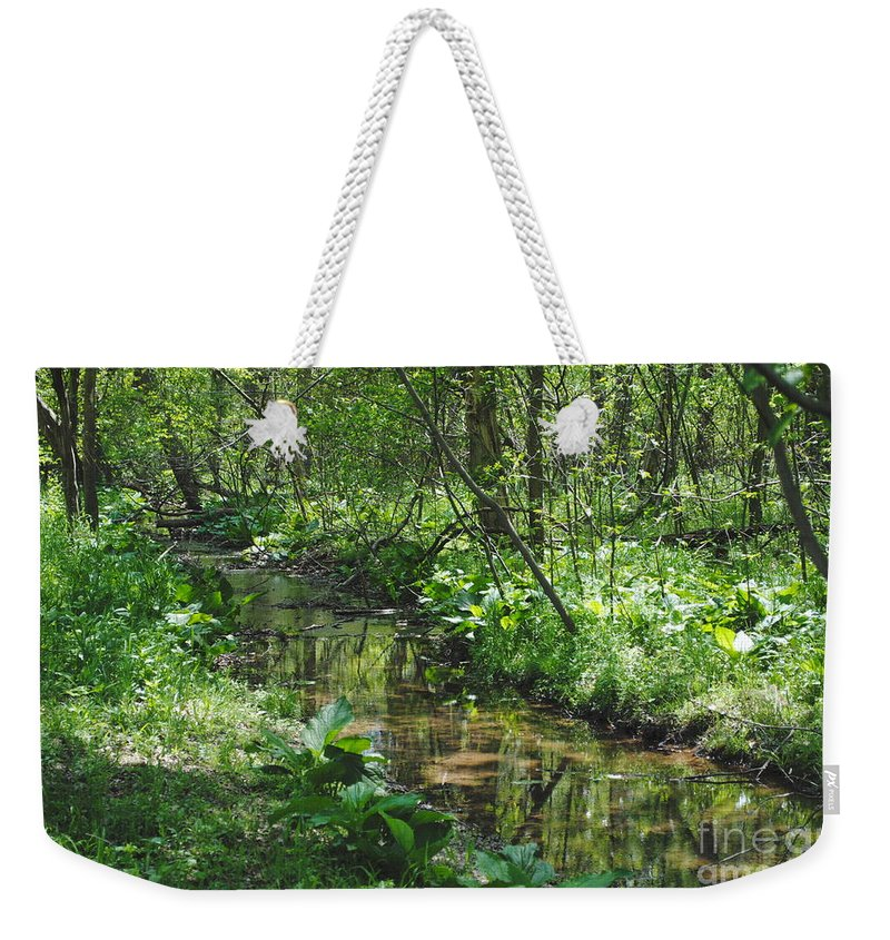 Creek Weekender Tote Bag featuring the photograph The Creek by Jost Houk