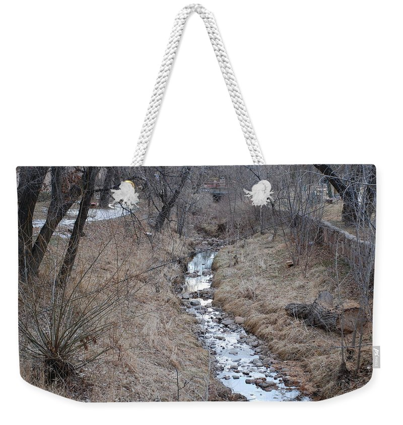 Water Weekender Tote Bag featuring the photograph The Creek by Rob Hans