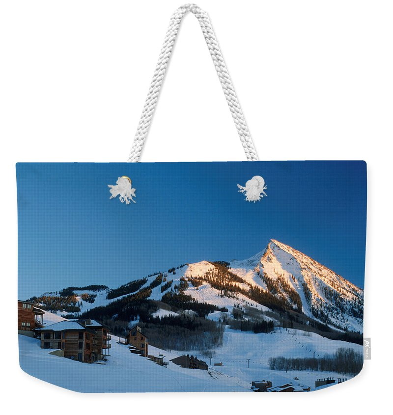 Crested Butte Weekender Tote Bag featuring the photograph The Crested Butte by Jerry McElroy