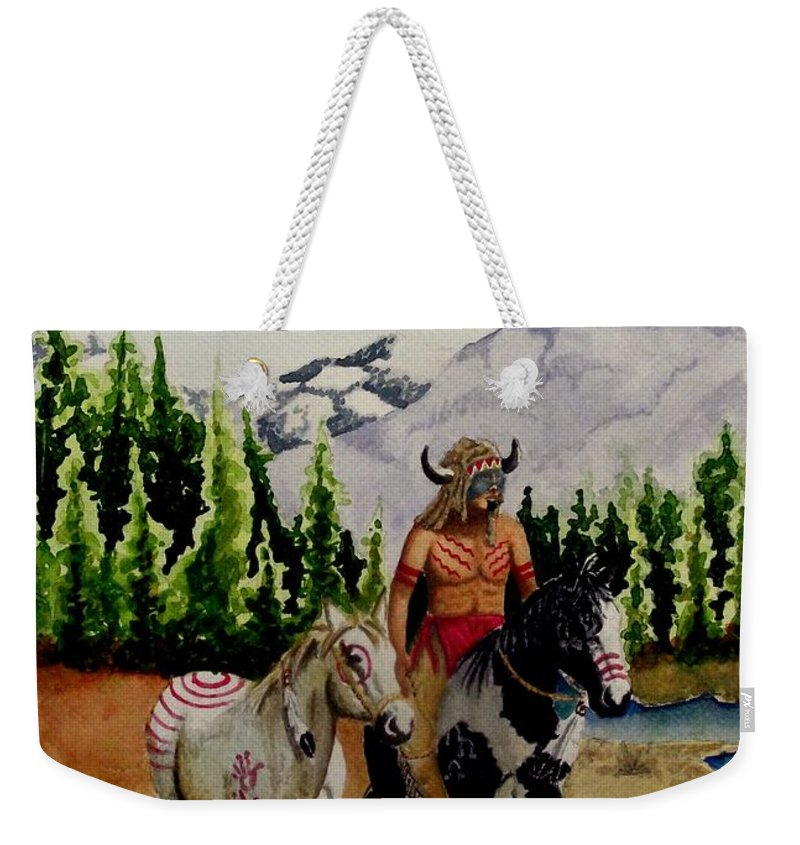 American Weekender Tote Bag featuring the painting The Crossing by Jimmy Smith