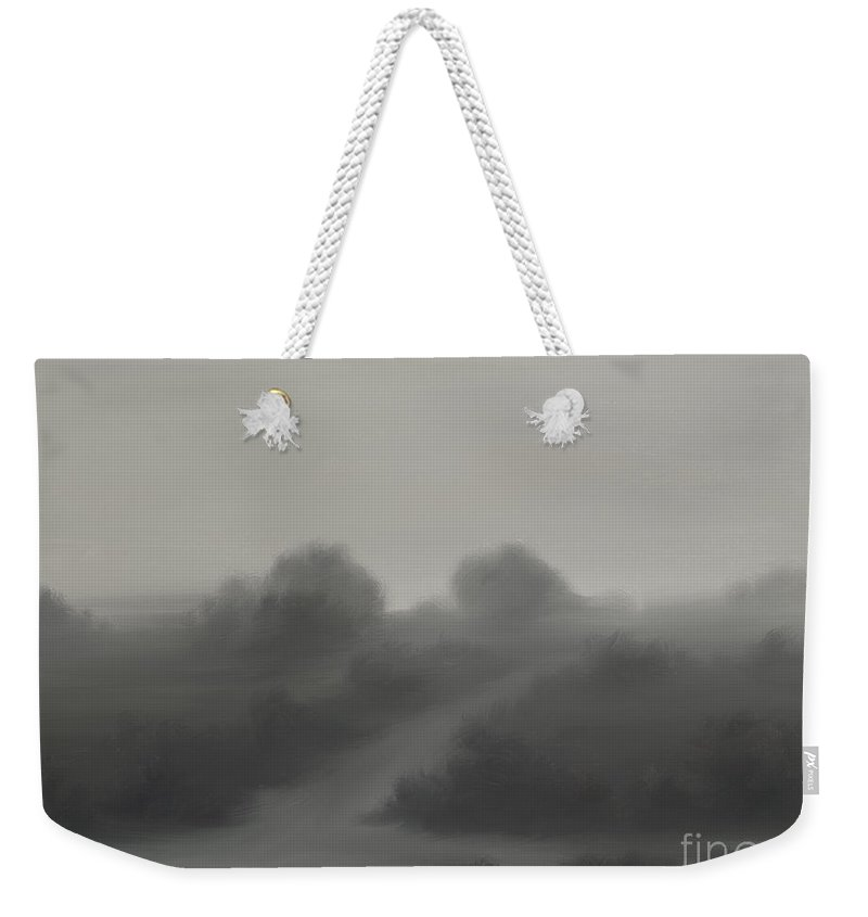 Landscape Weekender Tote Bag featuring the painting The Crossroads by James Christopher Hill