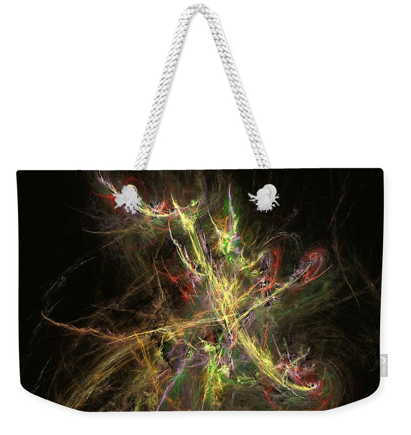 Abstract Digital Photo Weekender Tote Bag featuring the digital art The Dance 1 by David Lane