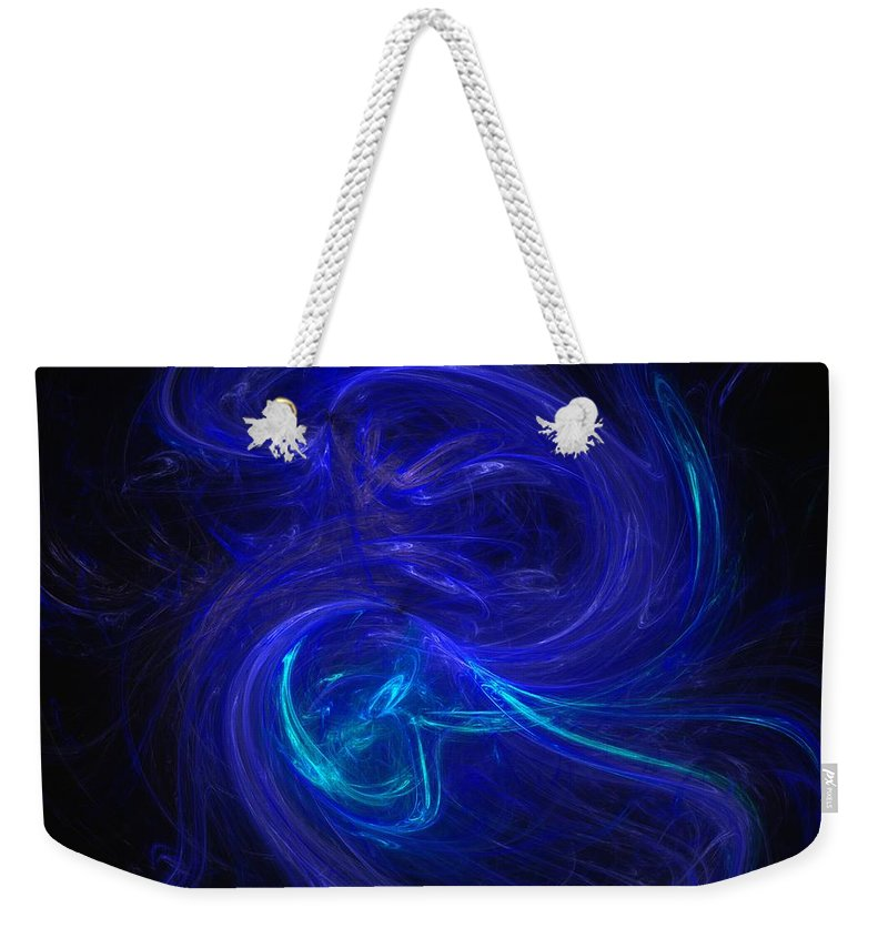 Abstract Digital Photo Weekender Tote Bag featuring the digital art The Dance 2 by David Lane