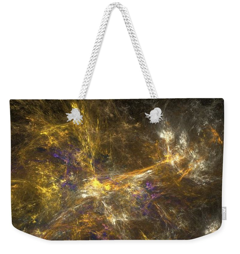 Abstract Digital Photo Weekender Tote Bag featuring the digital art The Dance 3 by David Lane