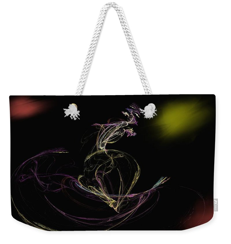 Abstract Digital Photo Weekender Tote Bag featuring the digital art The Dance by David Lane