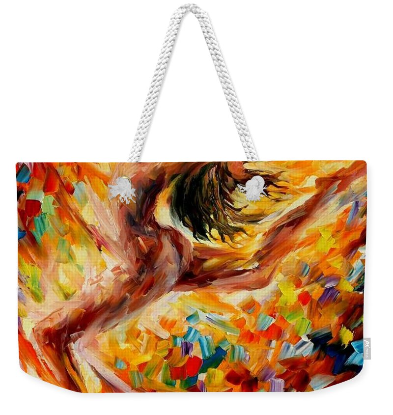 Afremov Weekender Tote Bag featuring the painting The Dance Of Love by Leonid Afremov