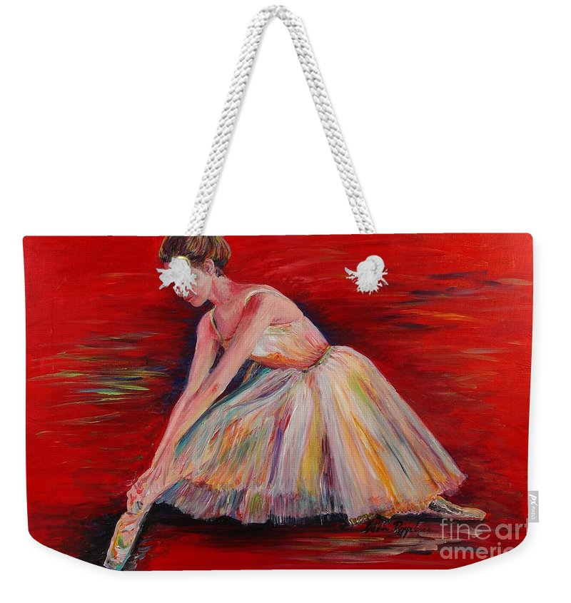 Dancer Weekender Tote Bag featuring the painting The Dancer by Nadine Rippelmeyer