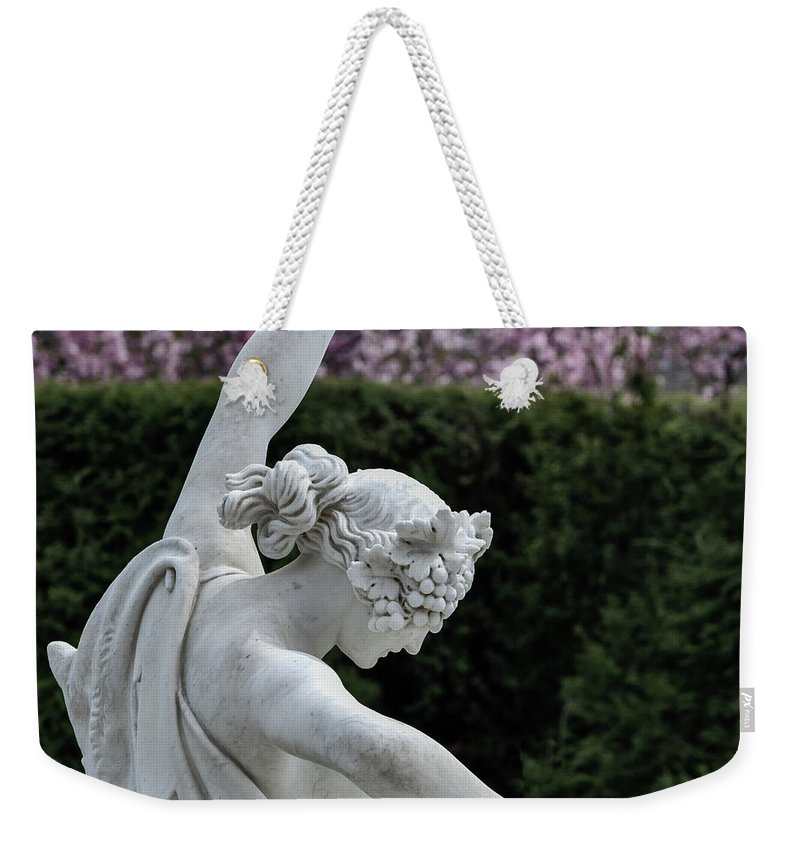 The Dancing Lesson Weekender Tote Bag featuring the photograph The Dancing Lesson Statue by Doug Sturgess